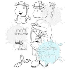 Holly Jolly | Christmas | Digital Stamps By Tiddly Inks
