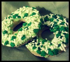 PREORDER  St Patrick's Day Donuts  Maple Vanilla by 2littlebostons, $5.50