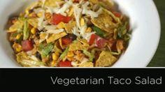 Easy, Healthy Vegetarian Taco Salad Recipe