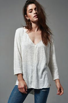 This classic Ingram top has a great neckline and great detailing in the front. It's simple and classic —the perfect basic shirt.