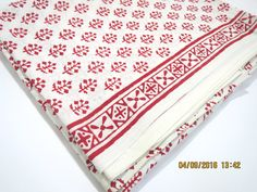 1 yard tree pattern white base India summer Cotton Fabric/Natural Vegetable…