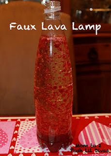 making easy faux lava lamps with kids