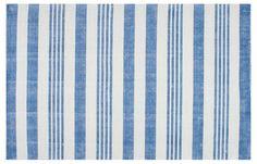 Hand-Loomed Earleen Rug, Blue
