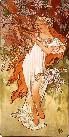 Alfons Mucha - 1896 - Spring - アルフォンス・ミュシャ - Wikipedia