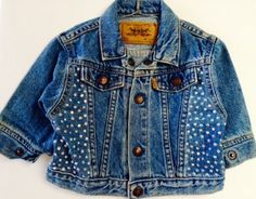 My Mom makes cute baby stuff...  BABY DEMIN JACKET Handembellished with rhinestones. by STUFFBYSAMI, $49.99