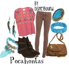Pocahontas... besides the disney thing, this is actually a really cute outfit