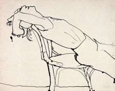 Woman Leaning Back in Chair, 1963-1964