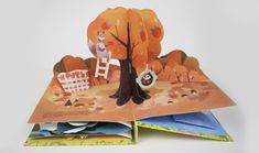 Pop up book of four seasons story. Pop Up Art, Up Book, Book Art, Diy And Crafts, Paper Crafts, Paper Engineering, Toy Craft, Graphic Design Branding, Four Seasons