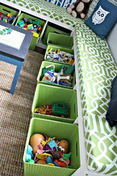Playroom Organization DIY - 55 Good DIY Playroom for Kids Decorating Ideas. Kids Bedroom Boys, Baby Playroom, Childrens Bedroom, Boys Playroom Ideas, Children Playroom, Basement Ideas, Kids Playroom Storage, Teen Basement, Kid Bedrooms