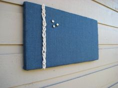 Bulletin Board in Navy Blue Burlap accented with by jensdreamdecor, $21.50