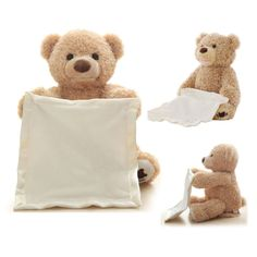 Peek A Boo talking teddy bear Looking for the best and safest toy for your baby? Look no further! Peek-A-Boo Talking Teddy Bear is the perfect toy for every baby out there. Get your baby ready to be entertained with this huggable teddy bear. Surely, your Talking Teddy Bear, Diy Teddy Bear, Knitted Teddy Bear, Cute Teddy Bears, Best Baby Toys, Best Baby Gifts, Teddy Bear Online, Baby Workout, Peek A Boos