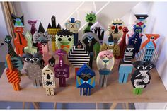 Les Composites is a series of painted wood characters, created by the French illustrator Séverin Millet.