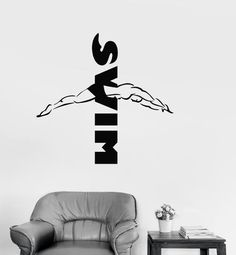 Wall Sticker Vinyl Decal Water Sports Swim Swimmer Swimming Pool Unique Gift (ig1860)
