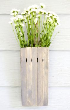 Rustic DIY Hanging Flower Box | Shelterness