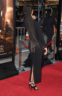 Keri Hilson Photos - Actress/songwriter Keri Hilson (shoe detail) arrives at the premiere of Universal Pictures' 'Riddick' at Mann Village Theatre on August 2013 in Westwood, California. - 'Riddick' Premieres in LA — Part 5 Alicia Keys Hairstyles, Box Braids Hairstyles, Tight Braids, Small Braids, Black Girl Braids, Girls Braids, Keri Hilson Braids, Jheri Curl, Curly Hair Styles