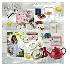 """Summer garden tea"" by anastasiaalieva ❤ liked on Polyvore featuring interior, interiors, interior design, home, home decor, interior decorating, WallPops, Martha Stewart, Artland and Kusmi Tea"