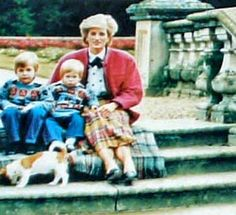 Diana with her 2 boys