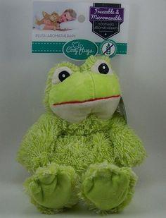Cozy Hugs Green Frog Aromatherapy Hot/Cold Plush Ceramic Beads Lavender Scent #CozyHugs