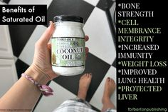 Benefits of Saturated Oil