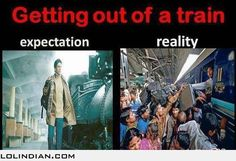 You need training to get into a train Jokes Quotes, Funny Quotes, Funny Memes, Hilarious, Desi Humor, Desi Jokes, Indian Funny, Indian Jokes, Desi Problems