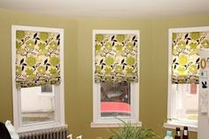 NO SEW Roman Shades!! :D