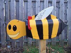 Bee Mail Box. Pin if you like it! :) #mailbox #creativity