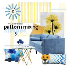 """""""#7 LOVELY PLACE: STRIPES & FLOWERS"""" by witchfromheaven on Polyvore"""