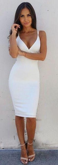 $24.99 Double Straps Cross Back V Neck Dress