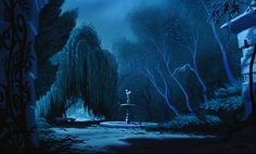 recreated backgrounds are from disney's CINDERELLA, released march 1950.