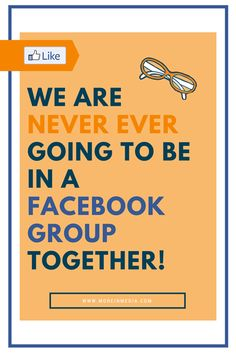 Read and then share this. #stopthemadness And listen, we'll add this... If interaction in your Facebook parties is low...this is one of the potential reasons... http://moreinmedia.com/never-ever-facebook-group-together/