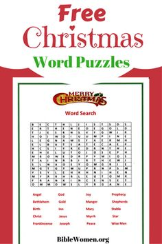 Free Word Puzzles to download or print!