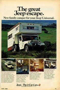 Jeep camper for the 6 cylinder Jeep Universal.