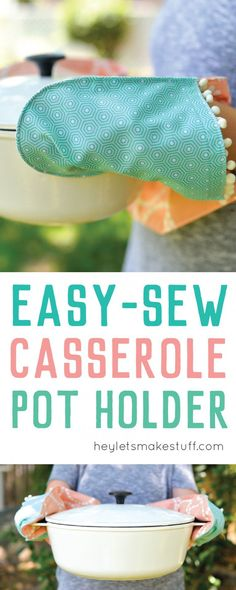 Easy-Sew Two-Hand Casserole Pot Holder & microwave plate holder pattern | Microwave Bowl and Plate Hot Pad ...