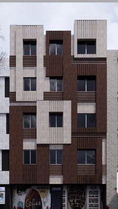 Modern Residential Architecture, Office Building Architecture, Parametric Architecture, Brick Architecture, Brick Design, Facade Design, Exterior Design, Brick Facade, Facade House