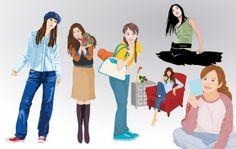 Girl Lifestyle Vector Set 1.