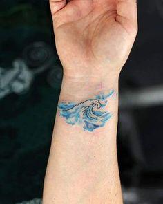 remarkable wave tattoo designs - the best representation of the ocean . - remarkable wave tattoo designs – the best representation of the ocean - Mini Tattoos, Small Tattoos, Cool Tattoos, Water Tattoos, Dream Tattoos, Wild Tattoo, Tattoo Spirit, Get A Tattoo, Tattoo Art