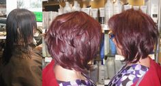 it's been a week a new changes!... here is a spunky new cut and a vibrant new color using Wella color