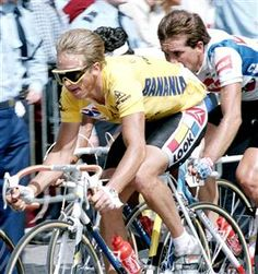 Classic photo of Greg LeMond at The Tour.