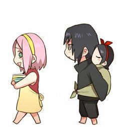 sakura and sasuke, sasusaku, and sweet 이미지