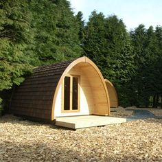 The Pod: arched camping cabins #Shackitecture