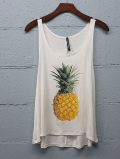 Pineapple Tank - White from Chocolate Shoe Boutique