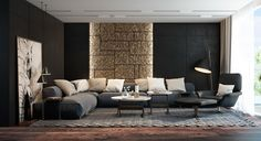 Black Living Rooms Ideas