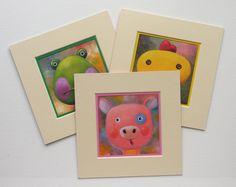 Three Animals Portraits, Set of Three