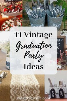 11 Vintage Graduation Party Ideas You Need To Know - Cassidy Lucille 11 vintage graduation party decoration ideas perfect for rustic high school graduation parties. These vintage graduation party ideas are fun and perfect for every 2019 grad! Outdoor Graduation Parties, Graduation Party Games, Graduation Party Centerpieces, College Graduation Parties, Graduation Ideas, Grad Parties, Decoration For Graduation Party, Graduation Gifts, Vintage Graduation Party Ideas