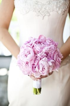 Pink Peony Bouquet 275x412 Maryland Wedding Ceremony: Erika + Sam