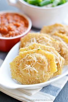 // Parmesan Fried Ravioli //