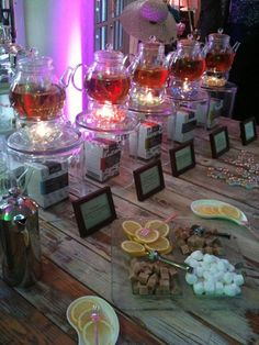 Awesome Tea Station at a networking event!