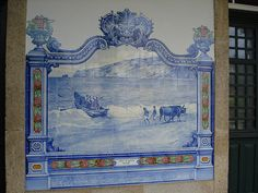 Painel de Azulejos: Praia de Banhos, Nazaré - Marvão-Beirã   Flickr – Compartilhamento de fotos!