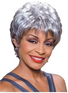 gray wigs for older women | ... Straight Black African American Wigs for Women 8 Inch : fairywigs.com
