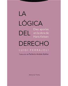 La lógica del derecho : diez aporías en la obra de Hans Kelsen / Luigi Ferrajoli ; traducción de Perfecto Andrés Ibañez . - 2017